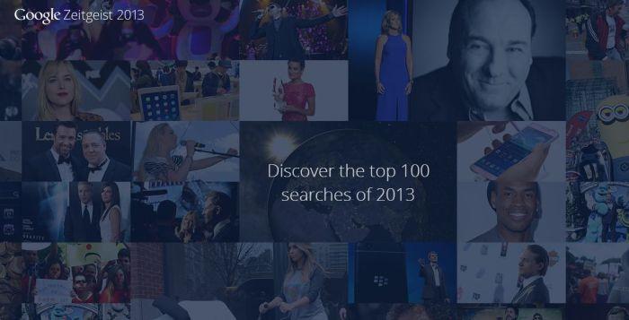 top cautari pe google din 2013