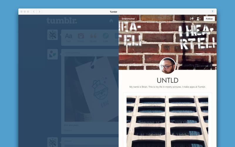 Tumblr aplicatie Mac OS X yosemite