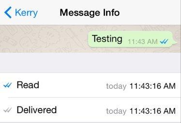 whatsapp afisare mesaj citit
