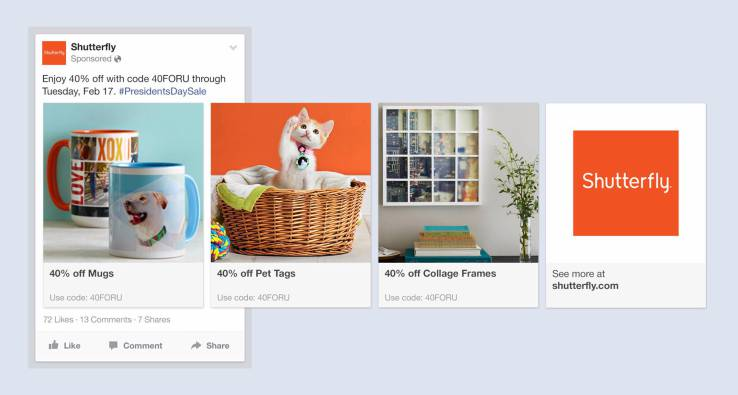 facebook lanseaza product ads