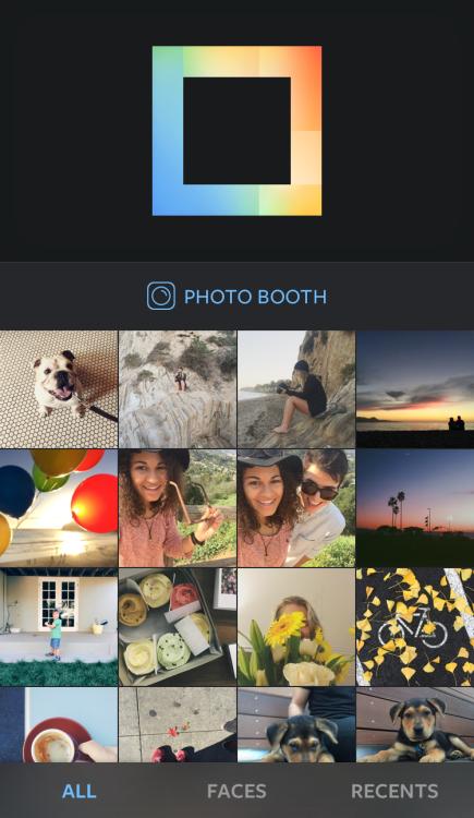 Instagram aplicatie colaje