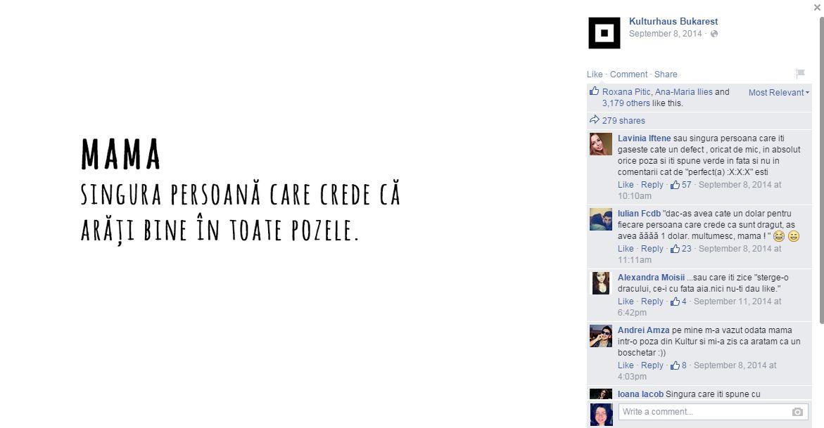 Cele mai populare posturi pe paginile facebook din Romania in 2014