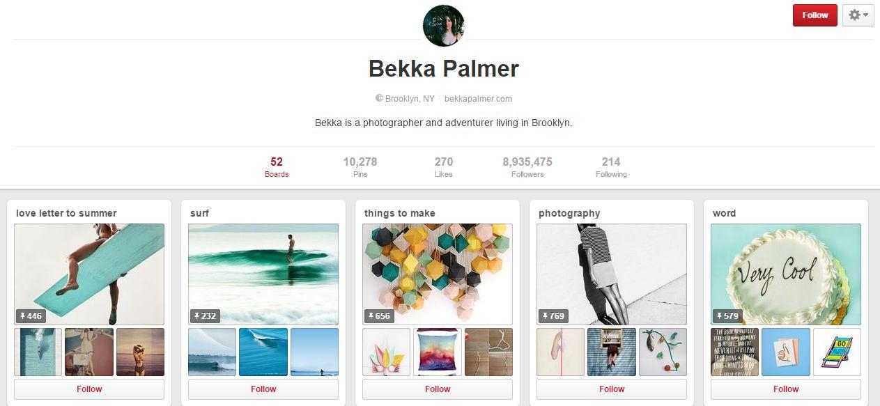 Top 10 utilizatori Pinterest cu cei mai mulți followeri