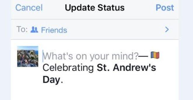 Facebook sărbătorește Sf. Andrei alături de România