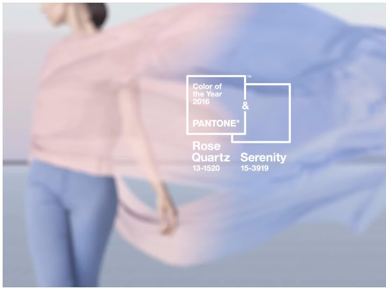 Culorile anului 2016: albastru Serenity și roz Rose Quartz