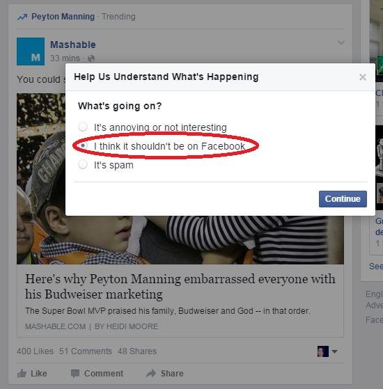 Cum raportezi știrile false de pe Facebook