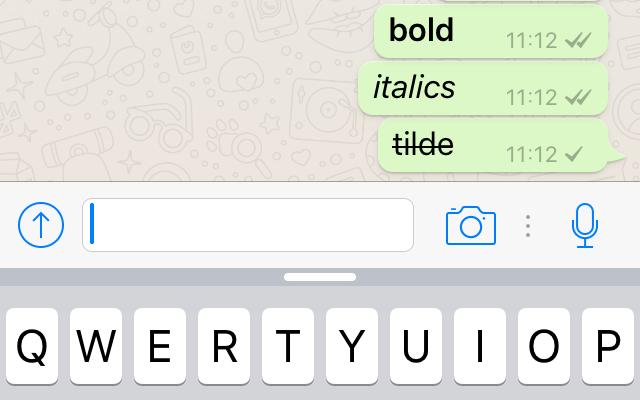 Cum trimiți mesaje bold sau italic prin WhatsApp