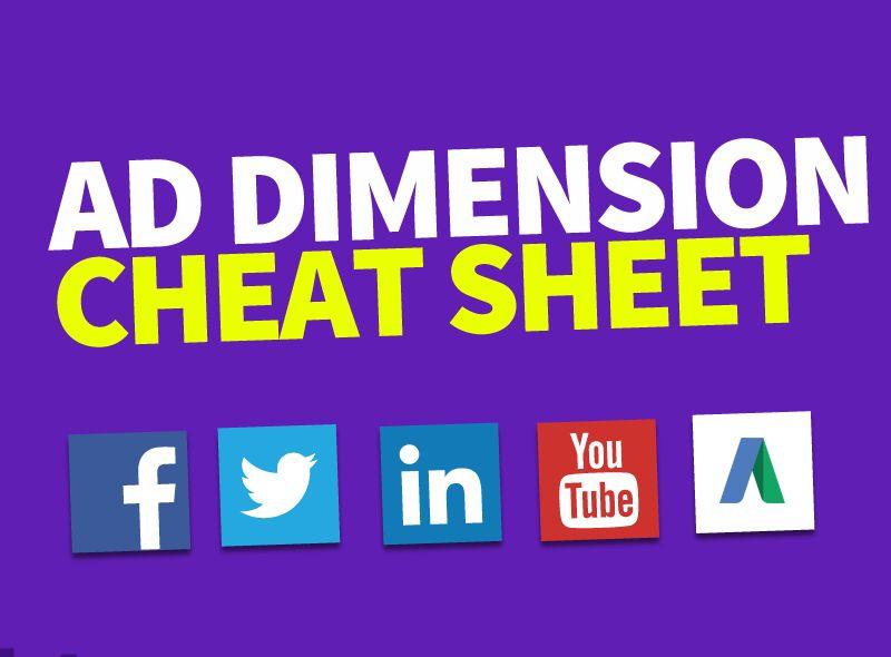 Infografic: Dimensiunile de ad-uri pentru Facebook și alte rețele de socializare