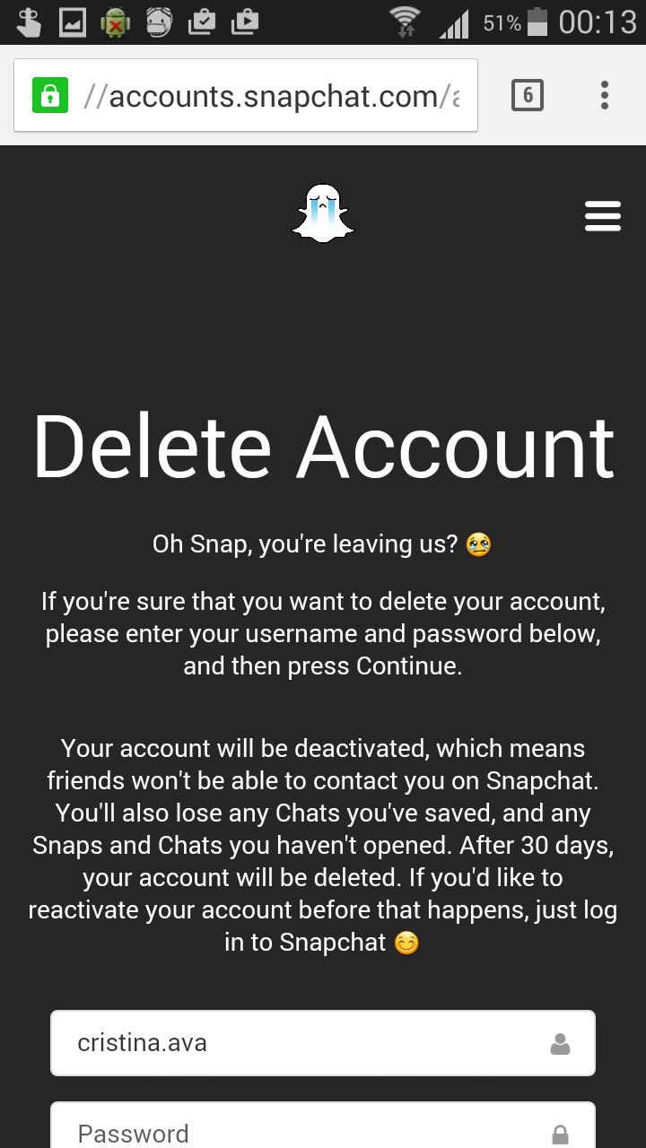 Cum îți ștergi contul de pe Snapchat