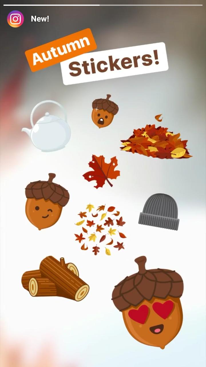 emoji toamna instagram story