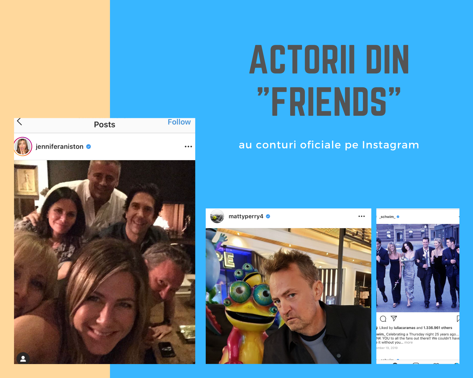 actori friends conturi de instagram